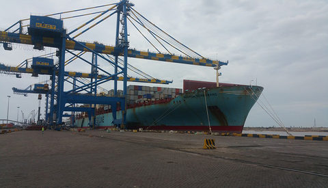 Krishnapatnam Port, pictured, says it can cut a week off transit times for some shippers using Jawaharlal Nehru Port Trust.