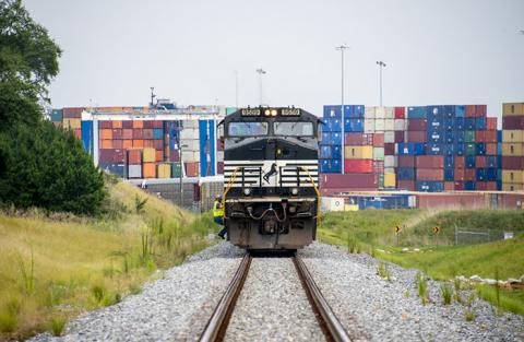 Weak coal and intermodal demand combined with a restructuring effort to bring down second-quarter profit and revenue at Norfolk Southern Railway.