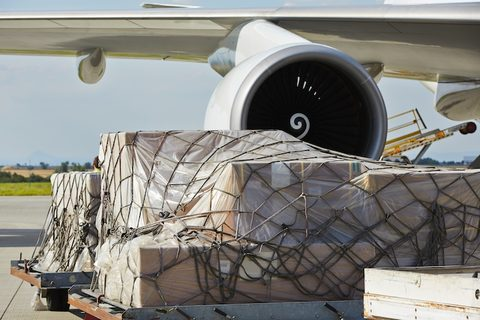 air cargo loaded on freighter aircraft