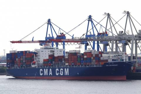 CMA CGM Mozart in Hamburg port