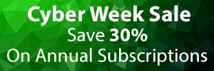 Cyber Week Sale is Here! Save 30% on Annual Subscriptions