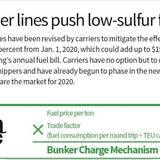 Low-Sulfur Fuel Regulation infographic.
