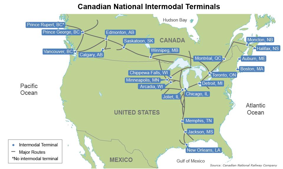 Seattle Tacoma Seek Intermodal Edge - Intermodal map us