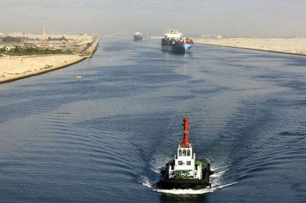 Ships in Suez Canal